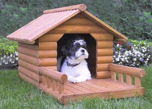 OUTDOOR DOG CAT PET HOUSE HOME   THE MEDIUM SIZED LOG CABIN BY MERRY