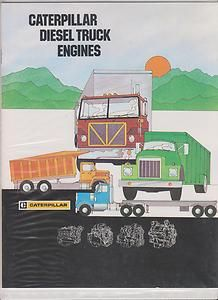 Mint 1978 Caterpillar Diesel Truck Engines Sales Booklet