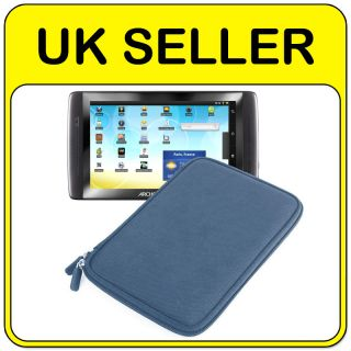 Duragadget   Blue Hard EVA Shell Case   Archos 70 Internet Tablet