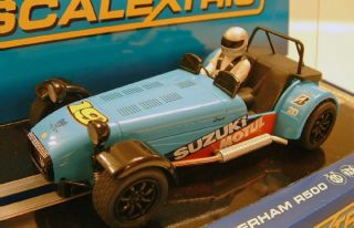 scalextric c3133 caterham r500 1 32 scale slot car brand new in