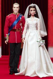 William Catherine Royal Wedding Giftset Barbie Ken Dolls