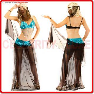 Dancer Arabian Ladies Fancy Dress Up Costume Party Sequin Lace