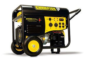 New Champion 9500 watt Gas Portable Gasoline Generator Carb Electric