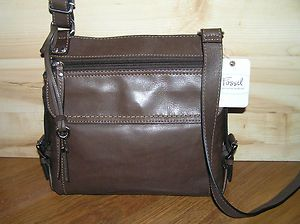 Fossil Castille Traveler Leather Cross Body Shoulder Bag – Espresso