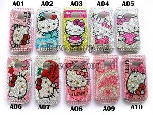 Hello Kitty Rhinestone Bling Case Skin for Nokia C3 New
