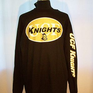 New UCF KNIGHTS black Long Sleeve Shirt XXL Central Florida Pullover