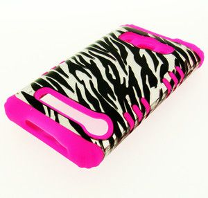 in 1 HYBRID Pink Silicone Phone Cover Case for Sprint HTC EVO 4G