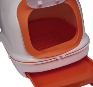 New Deluxe Cat Pet Litter Kitty Pan Enclosed Box Large w Scoop Deep