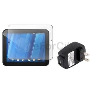 LCD Screen Protector AC Wall Charger Adapter For HP Touchpad