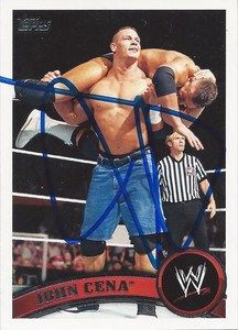 WWE John Cena Signed 2011 Topps Card Raw SmackDown