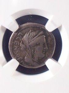 Roman Republic Censorinus Silver Denarius 82 NGC CH F
