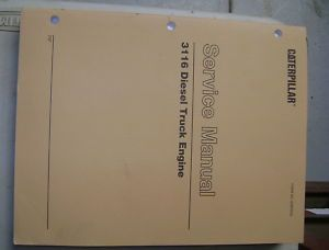 Caterpillar 3116 Diesel Truck Engine Service Manual 7SF