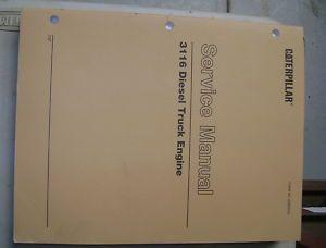 Caterpillar 3116 Diesel Truck Engine Service Manual 7SF