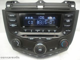 Honda Accord 6 CD Changer Radio 7BC0 EX LX 4 Door Sedan