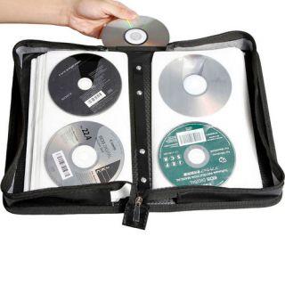 200 Disc CD DVD Storage Bag Holder Wallet Case R Media Storage