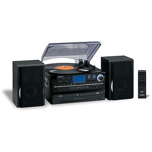 980B CD Turntable Record Player Recorder Cassette Dual CD Am FM