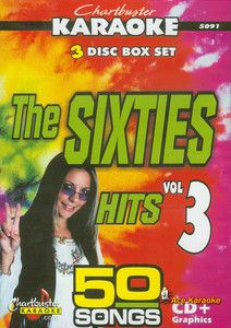 Chartbuster Karaoke CDG 3 Disc Pack CB5091 The Sixties Hits Vol 3