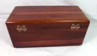 Vintage Mini Lane Cedar Hope Chest Jewelry Keepsake Box w/ Key