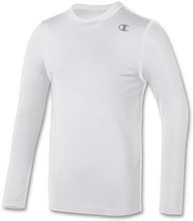 Champion Youth Double Dry Long Sleeve Compression Tee Y323 V