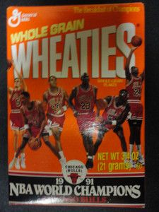 1991 NBA World Champions Chicago Bulls Michael Jordan Wheaties Mini