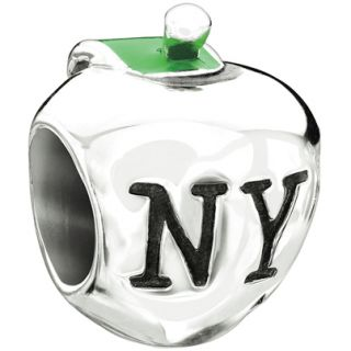 Authentic Chamilia Big Apple NY New York Bead Charm Sterling Silver