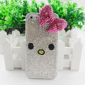 Red Rhinestone Bowknot Mobile Phone Cell Phone Case Cover Shell Skin