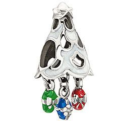 Chamilia Christmas Tree Morning Silver Enamel Bead Charm for European