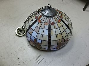 Style Stained Glass Ceiling Hanging Lamp Shade Chandelier
