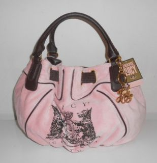 Juicy Couture Bag Pink Scottie Bling Crystal Freestyle Satchel