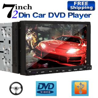 Touchscreen Car CD DVD Stereo Player Bluetooth iPod TV+Free Camera