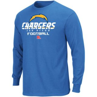 San Diego Chargers Critical Victory V Long Sleeve T Shirt Light Blue