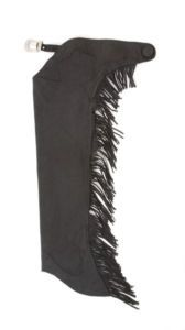 Youth Luxury Synthetic Suede Black Full Chaps