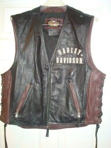 Harley Davidson 95th Anniversary Leather Vest (L)