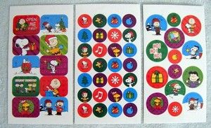 Scrapbooking Stickers Peanuts Charlie Brown Lucy Mini Snoopy Christmas