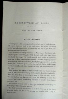 antique Victorian Wood Carving Tool Book Lathe Catalog Perry Mason