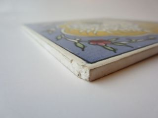 Vtg Jerusalem Sunrise Peacock Marazzi Ceramic Tile