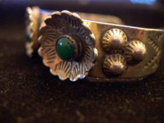 Harvey Era Navajo Squash Blossum Cerrillos Turquoise Sterling Silver