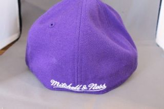 CHARLOTTE HORNETS MITCHELL & NESS NBA FITTED HAT CAP 2TONE WOOL PURPLE