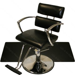 Chrome Arm Hydraulic Barber Chair Square Mat Hair Chairs Beauty Salon