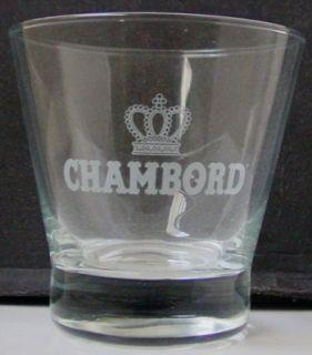 Chambord Liqueur Rock Glasses Collectibles Pair