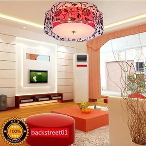 New Drum Shade Acrylic Ceiling Lamp Chandelier Pendant Light Fixture