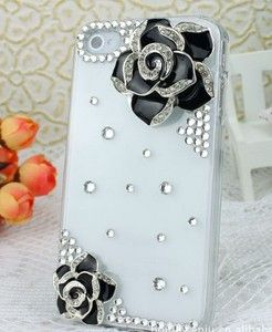 Flower Rhinestone 3D Mobile Phone Case Cover for iPhone4 4S