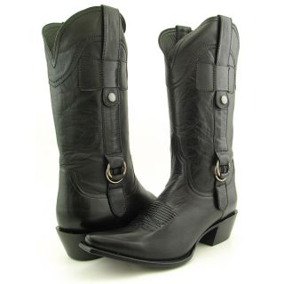 Lucchese I4775 Black Cowboy Boots Shoes Womens Sz 6 5