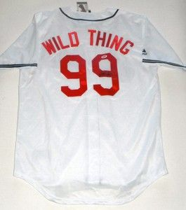 CHARLIE SHEEN SIGNED JERSEY RICK VAUGN WILD THING MAJOR LEAGUE PSA DNA