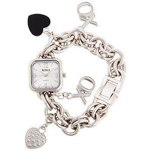 XOXO Charm Bracelet Watch Wrist Hearts Small 1 Cute Elegant Small