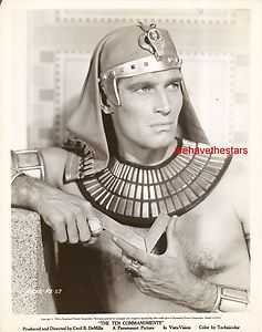 Vintage Charlton Heston TEN COMMANDMENTS 56 Handsome EGYPTIAN