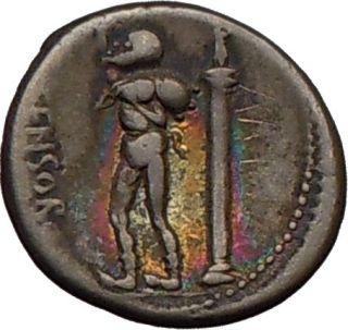 Roman Republic L. Censorinus SATYR MARSYAS APOLLO Ancient Silver Coin