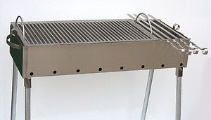 Stainless Steel Charcoal Grill Kebab BBQ Portable 12x30