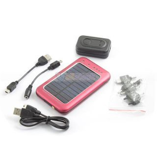 Solar Power Charger Supply for Camera Phone  MP4 PDA Black