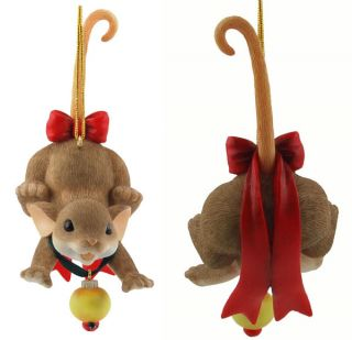 CHARMING TAILS   Nothing Decorates the Season Like   Ornament RARE